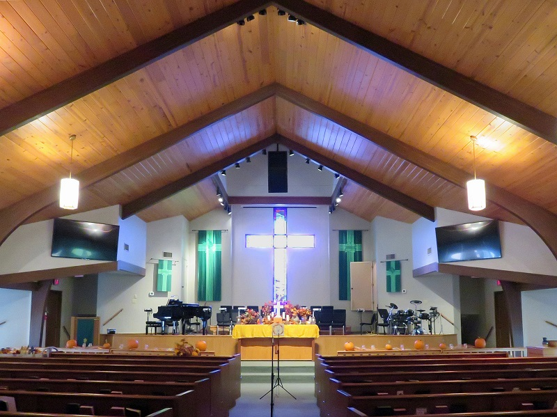the sanctuary at Dripping Springs United Methodist Church