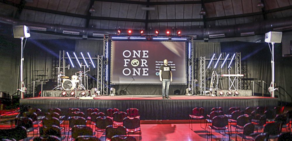 Elevate Life Church (ELC) stage setup