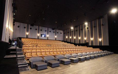 The new system at Emagine Novi uses five Danley SH96HOs for the main left, left-center, center, center-right, and right loudspeakers. A Danley BC418 subwoofer, with its components arranged to provide directivity, provides substantial low-end support