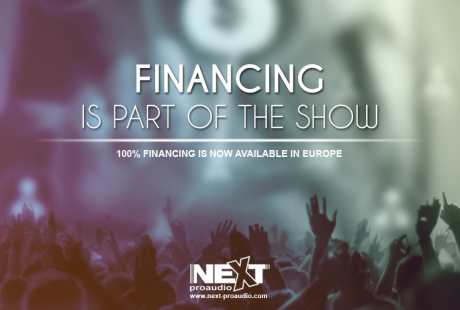 NEXT-proaudio Financing is now available in over 30 countries