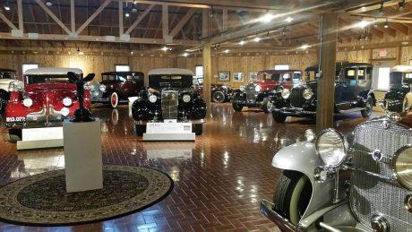 Gilmore Car Museum interior