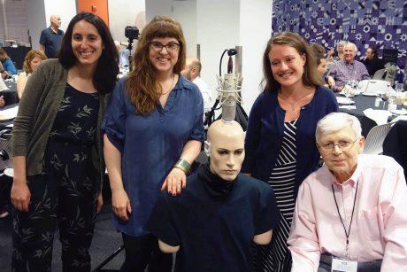 Group shot from left: Sara Leginsky, Ari Bolles, DEXTER, Heather Malyuk and Bob Schulein (© 2018 Jack Kontney, Kontney Communications.