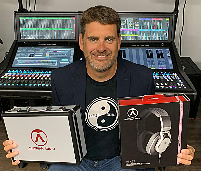 Group One president Bryan Bradley with some of the Austrian Audio Product