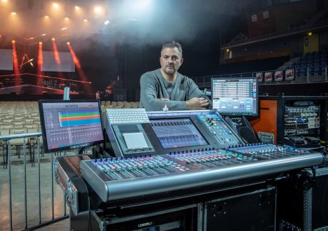 Ivan Herceg driving FOH from an SSLlive L200 console, and David Chancereul on MONS using an L500. Welcome to the #SSLfamily guys!