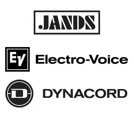 Jands, Electro-Voice, and Dynacord logos
