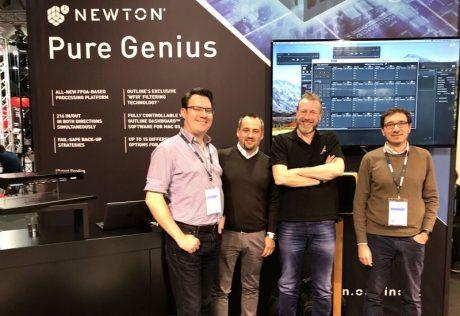 James Lawford (CUK Audio), Fernando Rey Mendez (Outline), Ian Nelson (Adlib Audio UK) and Daniele Pagani (Outline)
