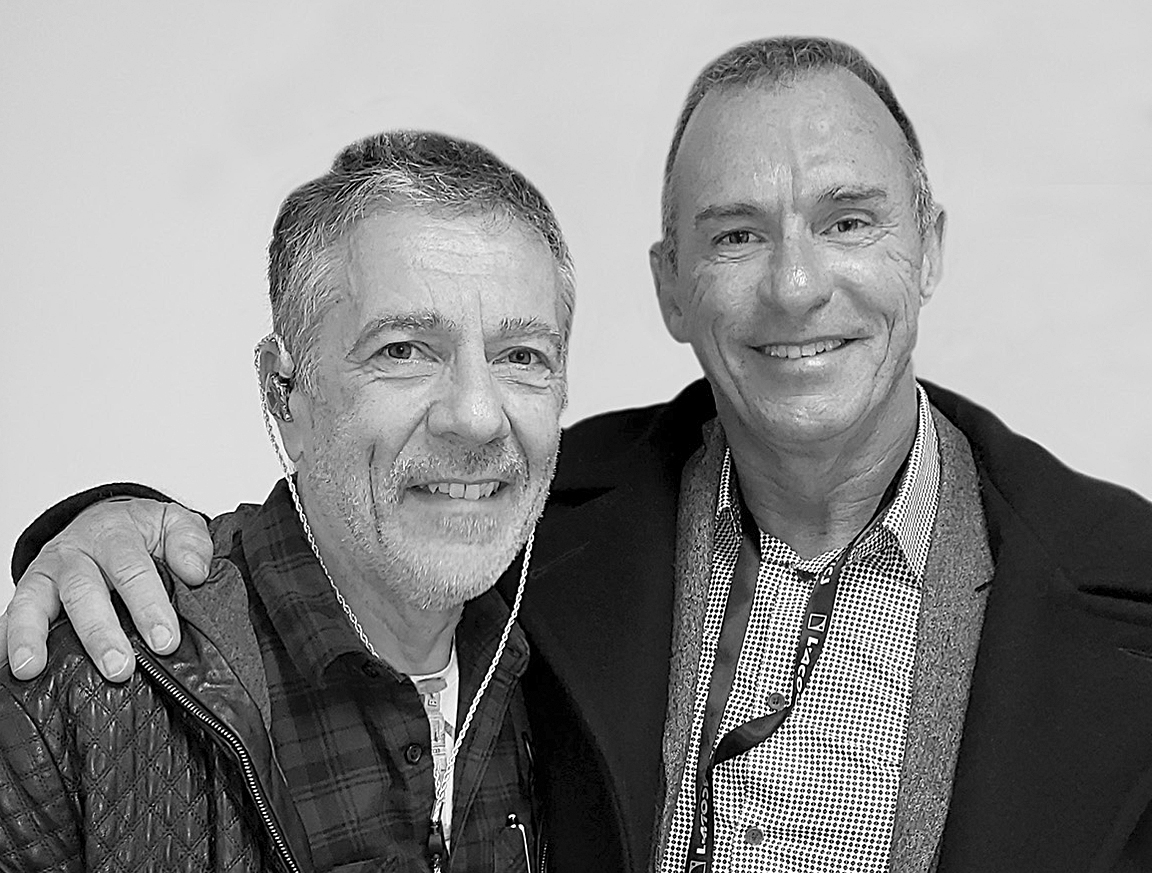"L-Acoustics founder/president Dr. Christian Heil (left) and JH Audio founder/president Jerry Harvey (right) will both be interviewed by Chris Rabold in the ""Contour XO IEM Origins Story"" session"
