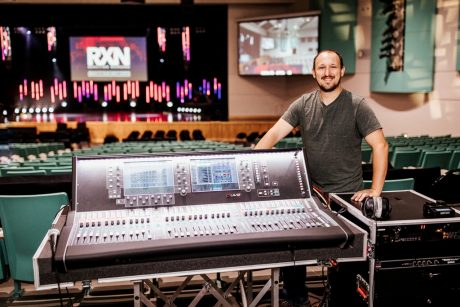 John Williams, Action Church Music Director, with the dLive S7000 Surface