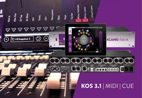 KLANG' new KOS 3.1 software update brings haptic fader, mute/solo button and snapshot control to KLANG:app via MIDI MCU