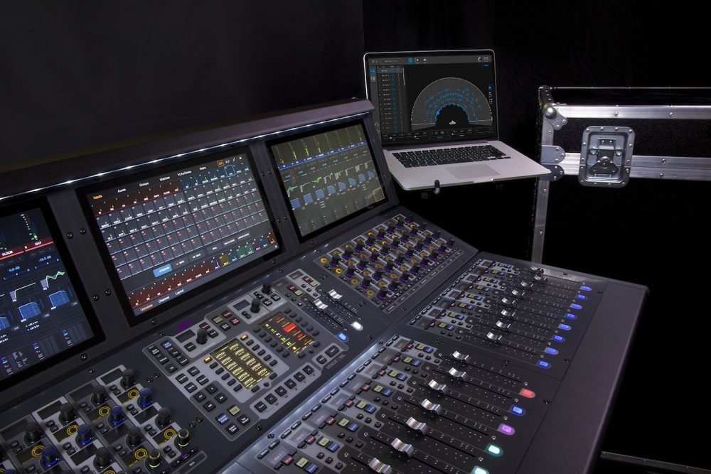 Avid's popular VENUE | S6L console paired with a laptop running the L-ISA Controller