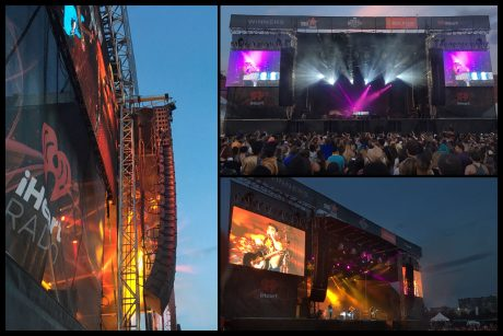 FM Systems' L-Acoustics K2 and K1-SB enclosures flown at iHeartRadio WestFest in Calgary, featuring performances by Hedley, Iggy Azalea, Fifth Harmony, Massari, Midland, Noah Cyrus, Ruth B, Scott Helman and Virginia to Vegas