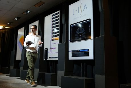 Scott Sugden, Product Manager, USA & Canada, L-Acoustics, conducting an L-ISA demo
