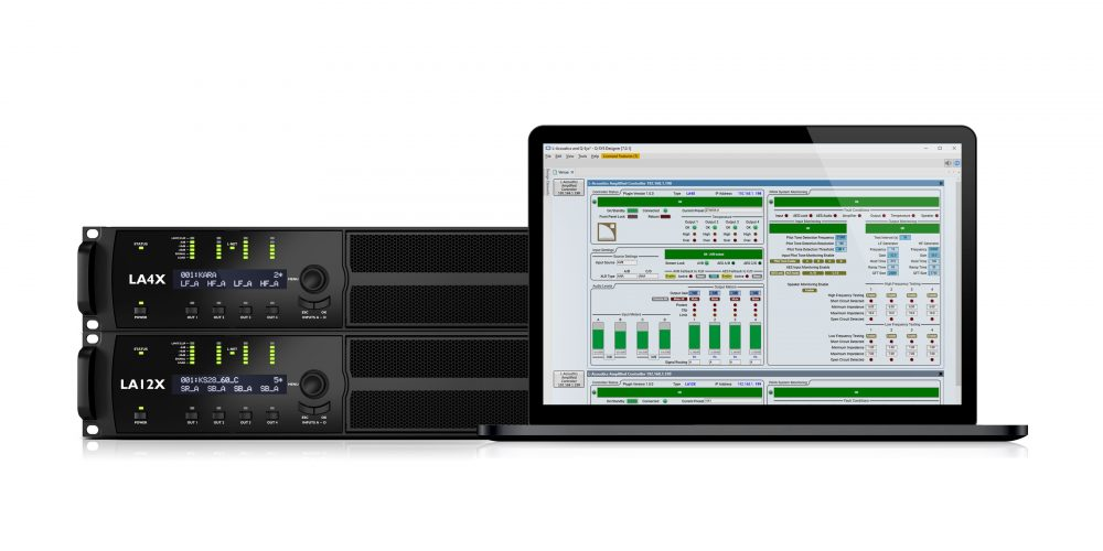 L-Acoustics' LA4X and LA12X amplified controllers can now be controlled and monitored through QSC's Q-SYS Platform