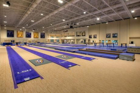 LSU Gymnastics interior