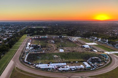 Lollapalooza Argentina aerial view
