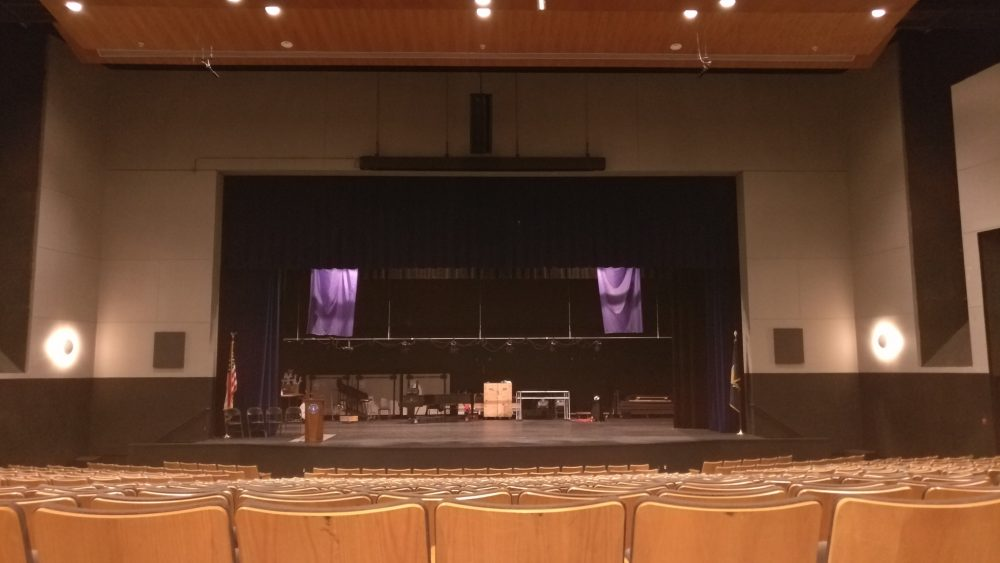 The panel replaced two 30-year-old dimming racks with an 84-circuit RPC panel, providing the school with reliable and efficient power control for the theatre's house and stage lighting systems.