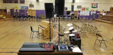 Washington Middle School recently purchased multiple Mackie products for its music department