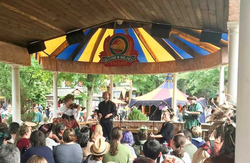 One Systems Direct Weather loudspeakers reinforce multiple stages at the Maryland Renaissance Festival in Crownsville, Maryland...