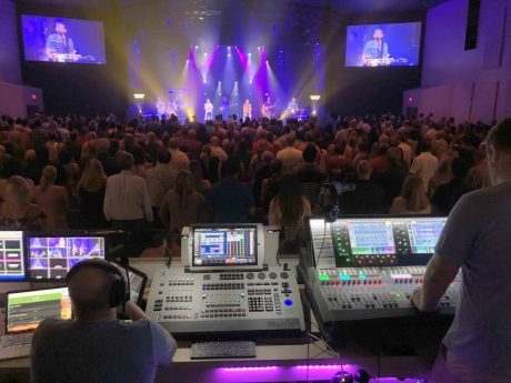 Nils Lorvick, a Church at Viera Volunteer, Mixes FOH on the dLive S7000 Surface (Right)