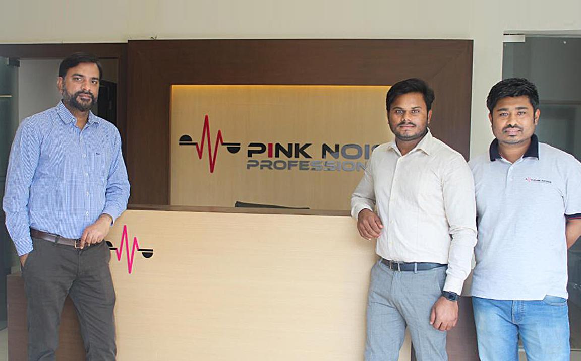 Pink Noise Professional members, (L-R): Shailesh Awasthi, Vikram Yadav and Vijay Sinha