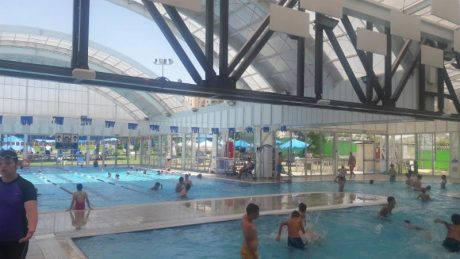 Primacoustic acoustic treatment installed in open-air pool facility in Israel.
