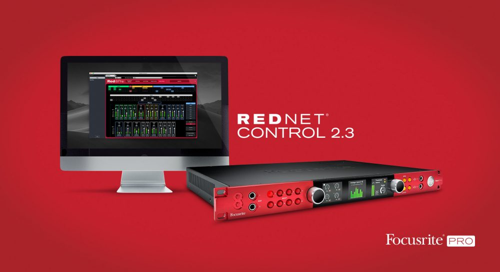 Focusrite's free RedNet Control 2.3 application delivers Red 4Pre, Red 8Pre and Red 16Line interface control over Thunderbolt.