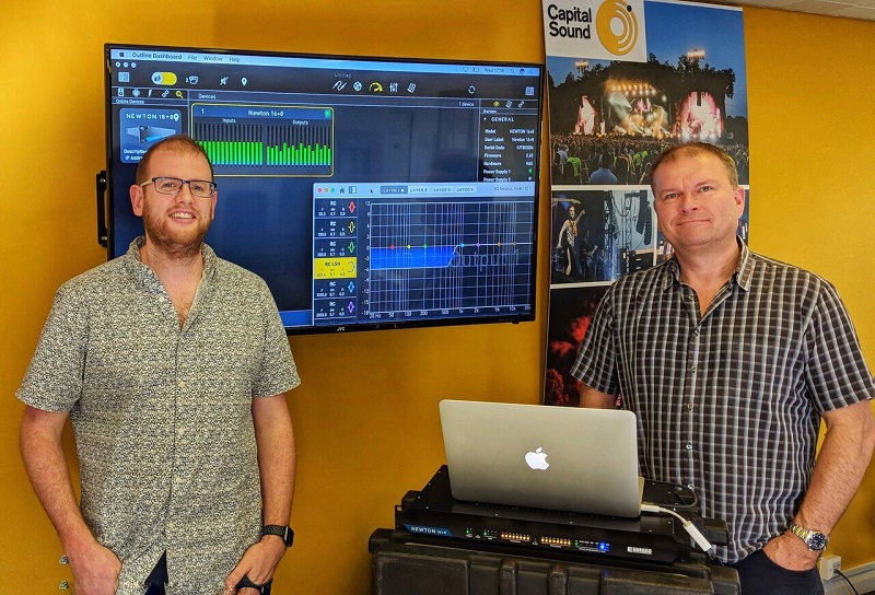 Robin Conway and Paul from Capital Sound Hire