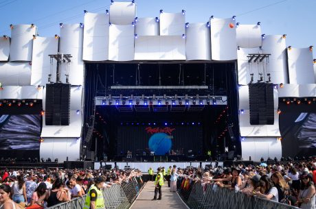 """The PA system followed last year's template: """"We again set-up the side-by-side rig which has been the trademark of Rock in Rio,"""" Racy said. """"This year we not only made MLA available for the second delay line, but the ground-stacked subs were set up as end-fired arrays."""
