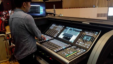 Bethel Church's SSL L500 Plus console at FOH position