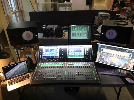 Show And Tell's Studio at the Lafayette Science Museum with Allen & Heath dLive C3500 Surface