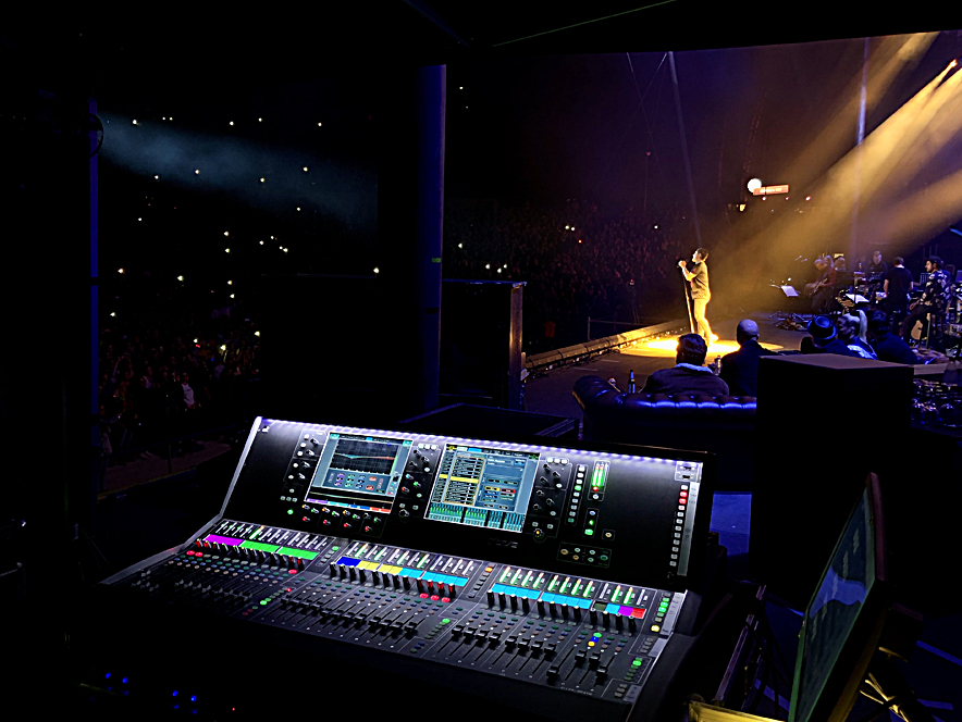 dLive on monitors for Sing meinen Song
