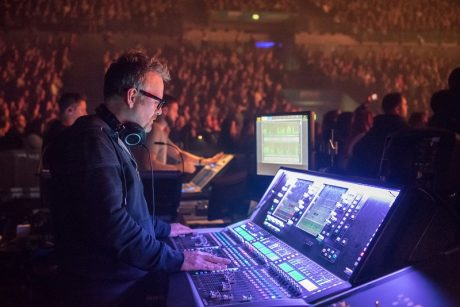 Steve Pattison with dLive at FOH