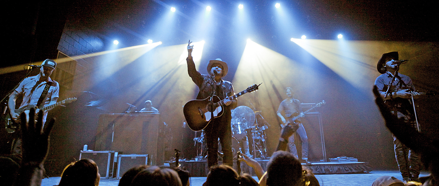 Randy Rogers on tour with his band. Photo: Preston Leatherman