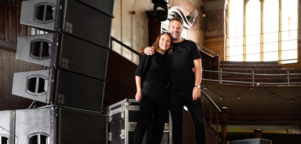 Julie Cotton and Nick Gosling at the Albert Hall, Manchester. Photo: Jody Hartley