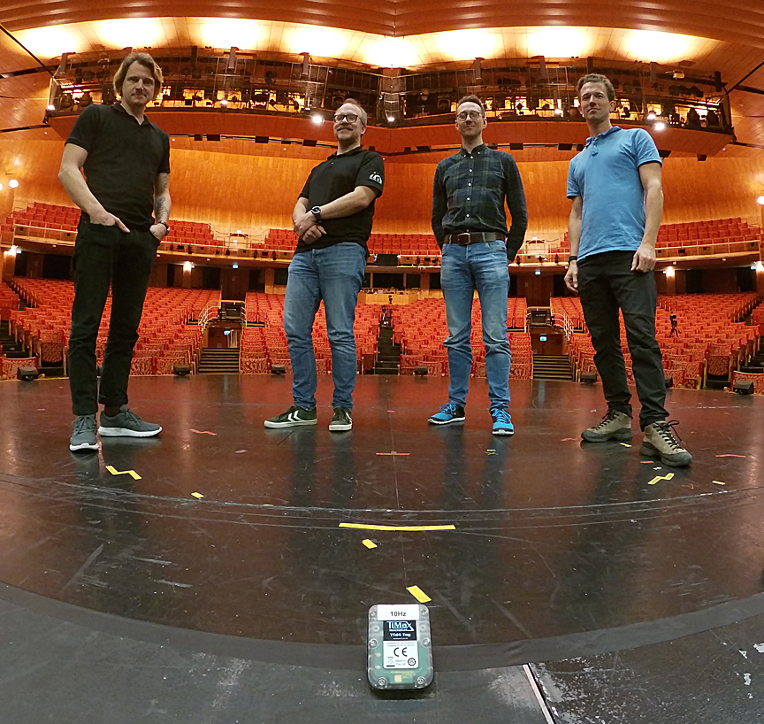 The Sound Team at Malmö Opera. (L-R): Peter Ebbesson, Svante Axbacke, Joel Bexelius, and Anders Ekstedt.
