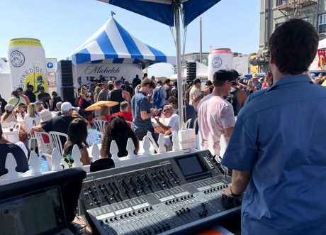 In addition to the al-Class line arrays, VUE hm-Class monitors were used across both festival stages. Including – for the first time as a permanent part of Bell Events' inventory—the recently announced hm-115.