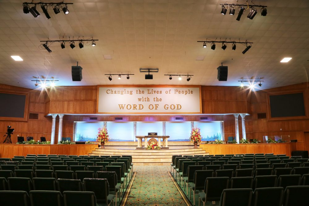 Word of Life Christian Center's sanctuary
