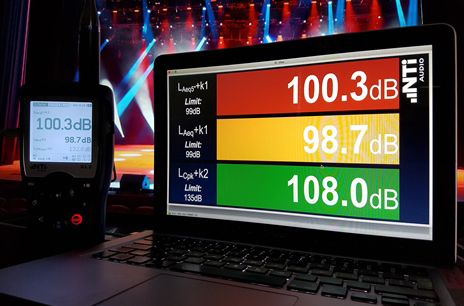 Sound Level Visualization with the XL2 and the Projector PRO softwarev