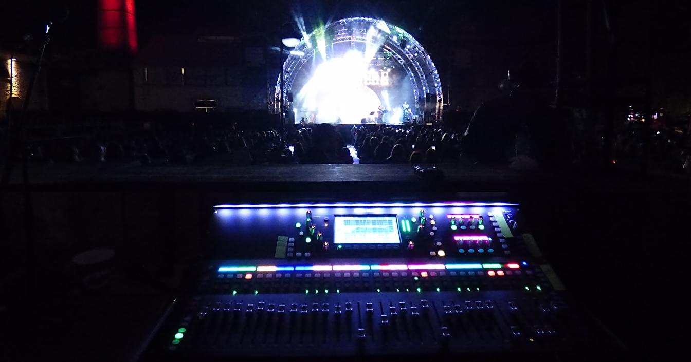 A&H SQ-7 console at FOH on Eleonora Zouganeli tour