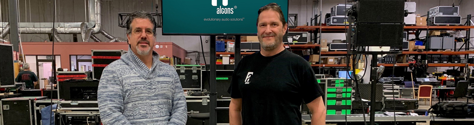 Mark Meding, On The Road Marketing (left) and David Rahn, Alcons Audio USA (right).