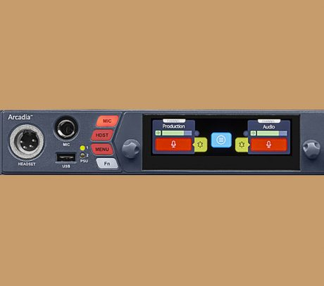 The next-gen Arcadia IP central station integrates the entire range of Clear-Com digital partyline products, including the FreeSpeak family, HelixNet and Dante third-party devices.