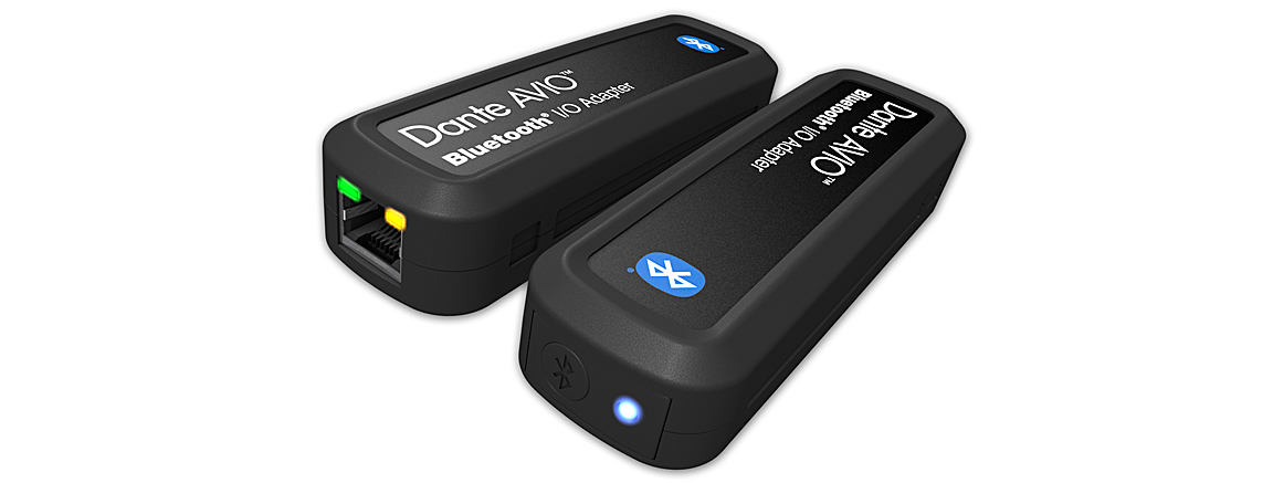 Audinate Dante AVIO Bluetooth and AVIO USB-C Adapters