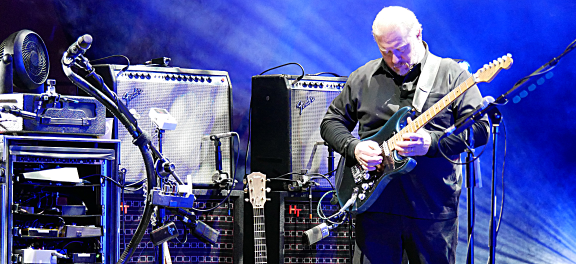"The Australian Pink Floyd Show's guitarist and vocalist, Stephen McElroy (""Steve Mac"") at work"