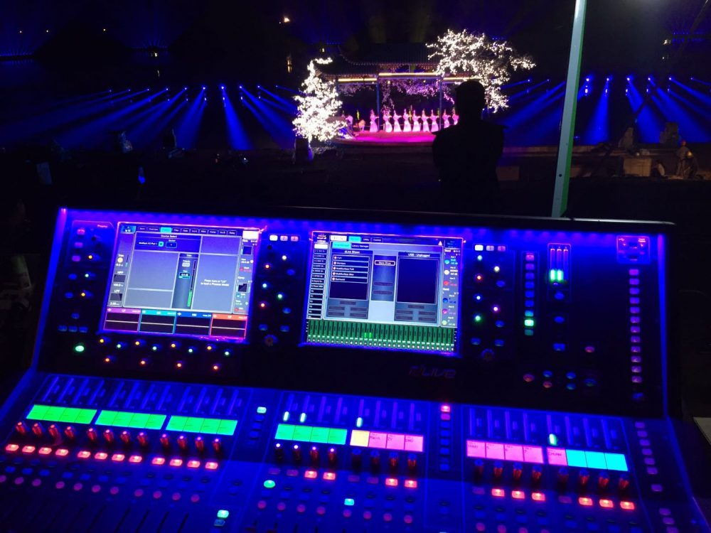 dLive at FOH during a performance of The Legend of Han Dynasty