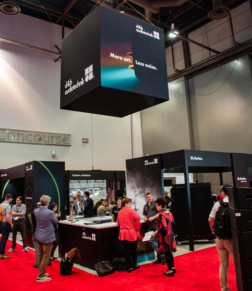 d&b's booth inside InfoComm 2018