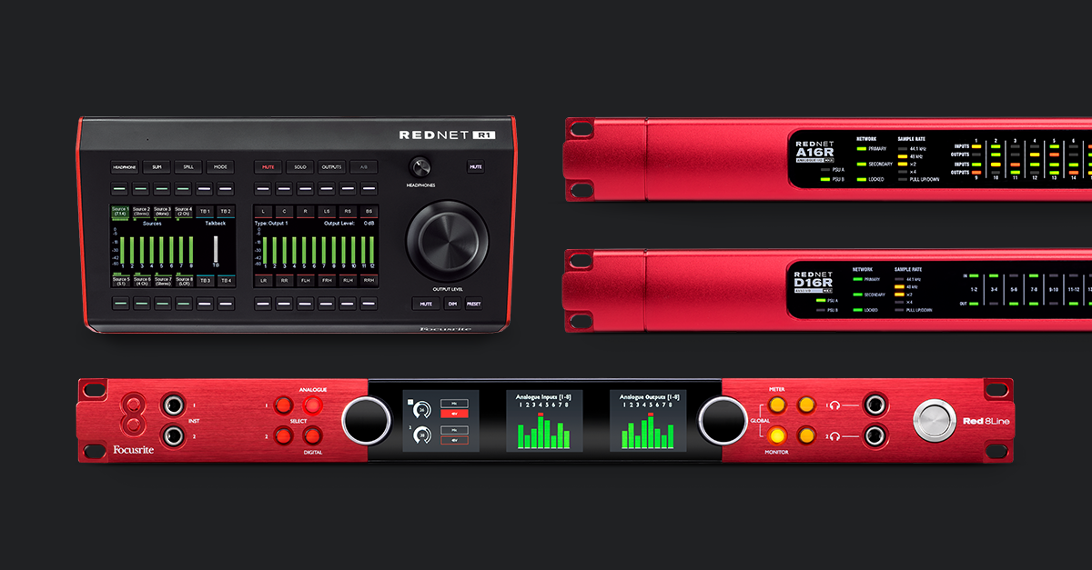 Focusrite Pro Expands Red Range