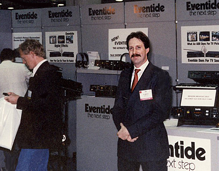 A young, fresh-faced Gil Griffith at Eventide, 1986…
