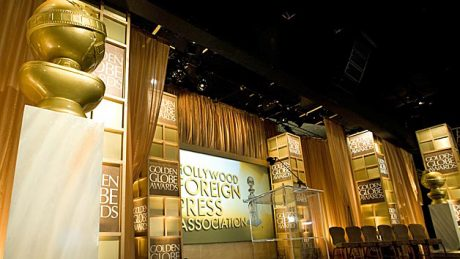 Golden Globe Stage prior to the 6PM Press Confence.