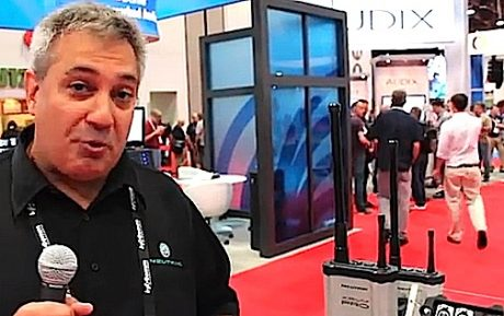 Mark Boyadjian Product Applications Manager at Neutrik USA at Winter NAMM 2016 offers this tour of Xirium PRO — the new system for sending two channels of analog/AES/Dante audio wirelessly up to one mile using an easy to set up system of rugged, RF-solid transmitter, receiver and repeater units that are ideal for FOH to stage signal runs, sends to delay towers, etc — all with low latency 5 GHz transmissions.