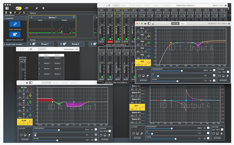 The new v0.76 upgrade is very comprehensive and its main features include the inclusion of two layers of IIR filters on every input channel, plus a further two layers of filtering on every output (in addition to the existing four), one IIR and the other a dedicated all-pass, both with phase trace visible via Dashboard.